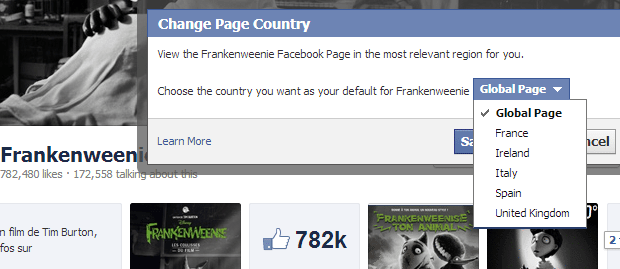 Facebook Global page, how much does it cost?