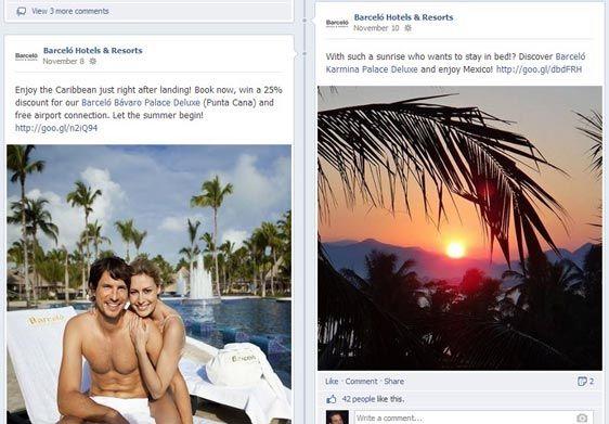 facebook hotel page