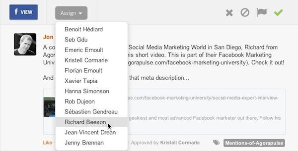 Facebook admin workflows