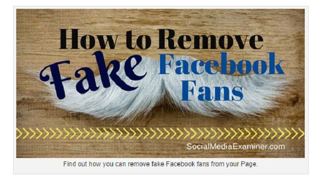 how to remove fake facebook fans