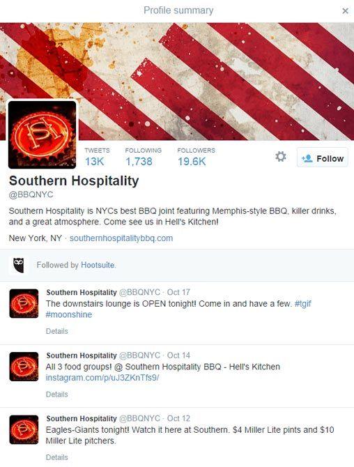 southern hospitality profile