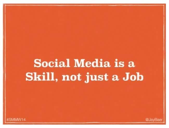 social media is a job