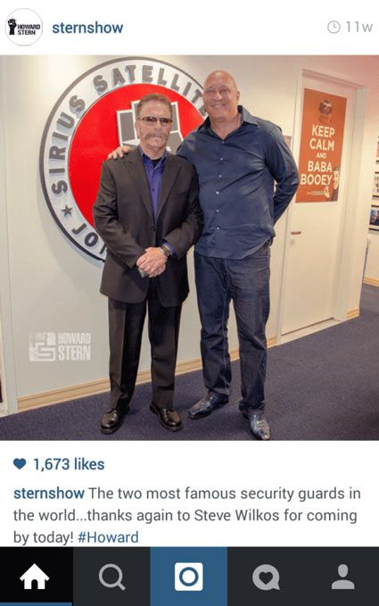 Howard Stern Instagram Post
