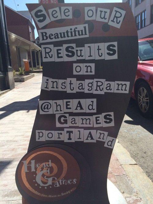 Head Games Salon Instagram Sign in Portland Maine