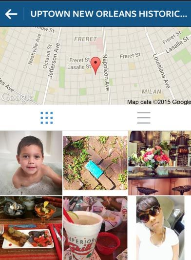Uptown New Orleans Instagram Geolocation