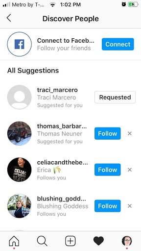 discover people to follow you on instagram