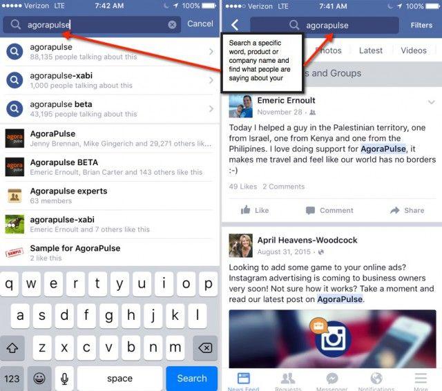 Facebook Search FYI AgoraPulse
