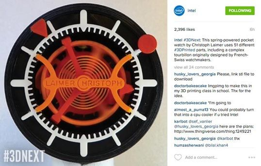 intel instagram caption