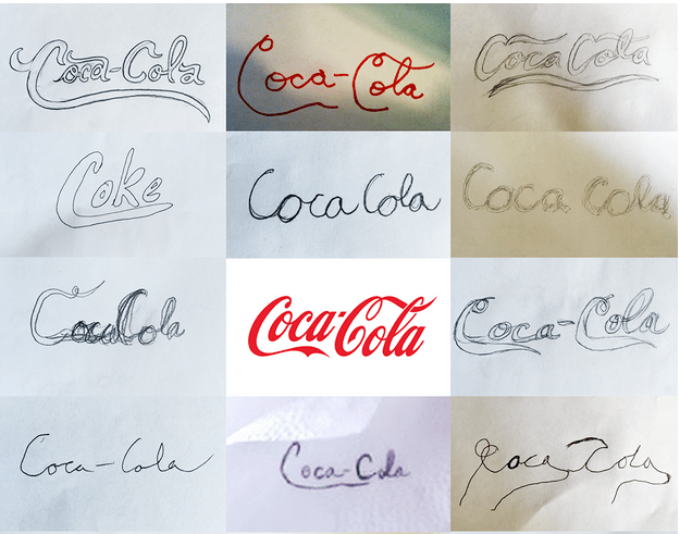 cocacola brand sketch of logo