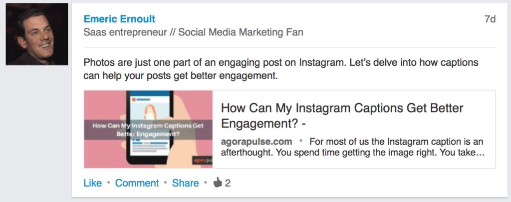 LinkedIn Post Idea - Emeric Ernoult