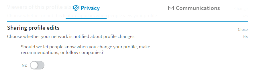 linkedin profile edits