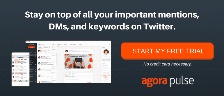 Twitter management tool Agorapulse
