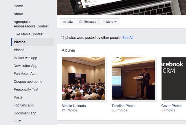 Agorapulse Facebook tabs