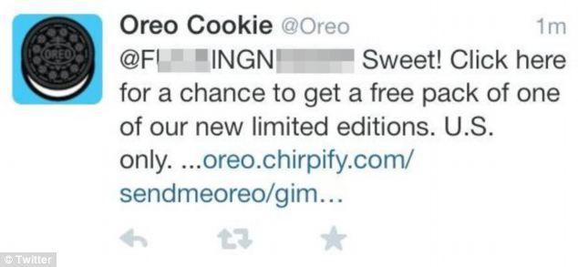 oreo automated tweet