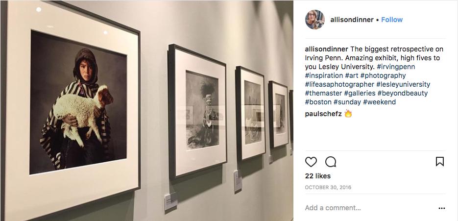 Photo of an art exhibit by @allisondinner on Instagram