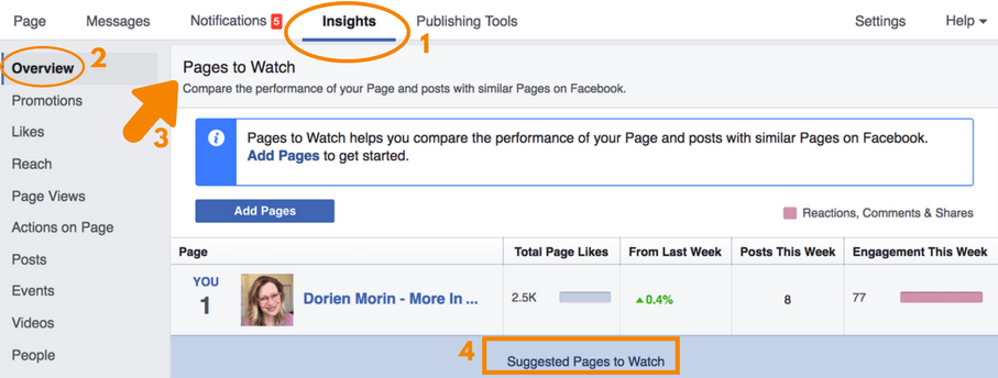 Facebook's 'Pages To Watch' Feature
