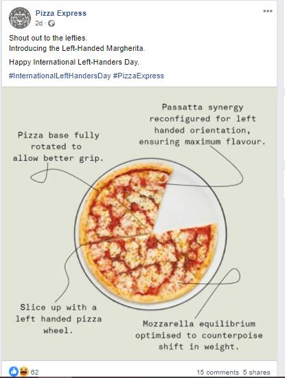 pizza express social content