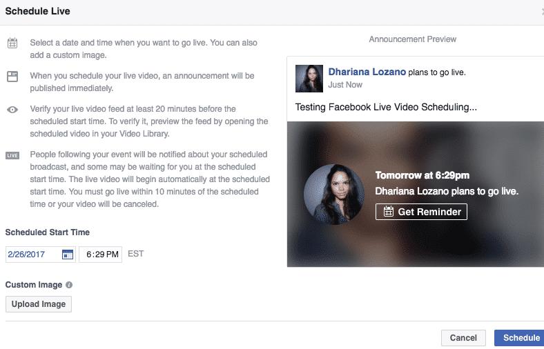 facebook live tip