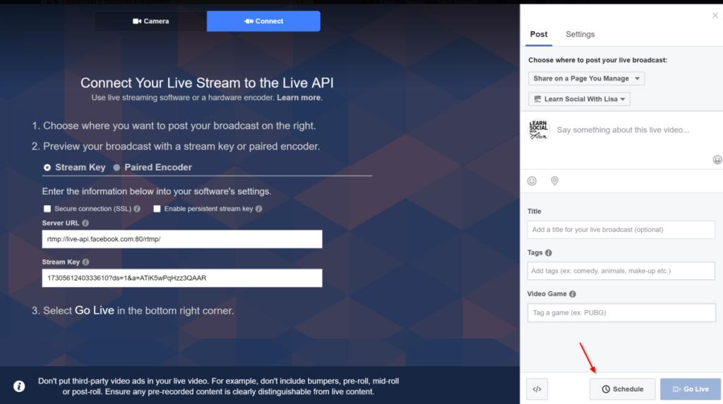 fb live scheduler
