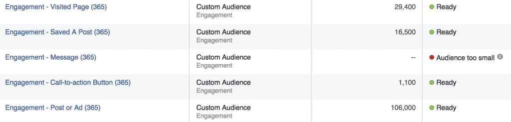 Engagement on Facebook Custom Audiences Setup