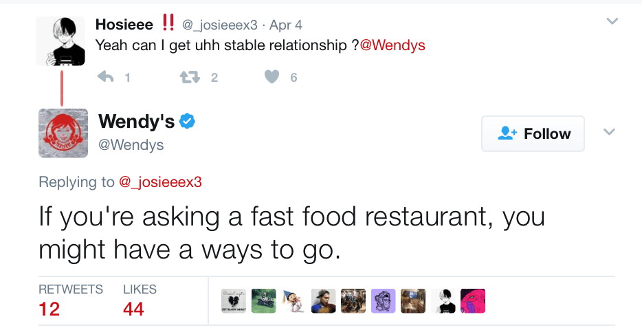 Wendy's Twitter Account