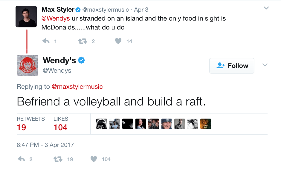 Wendy's throws shade at McDonalds