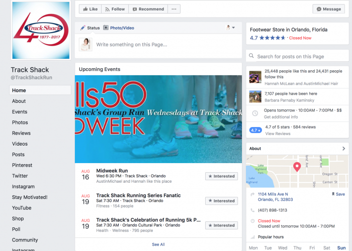 facebook events small business