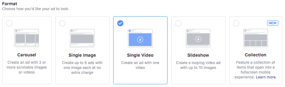 running Facebook video ads