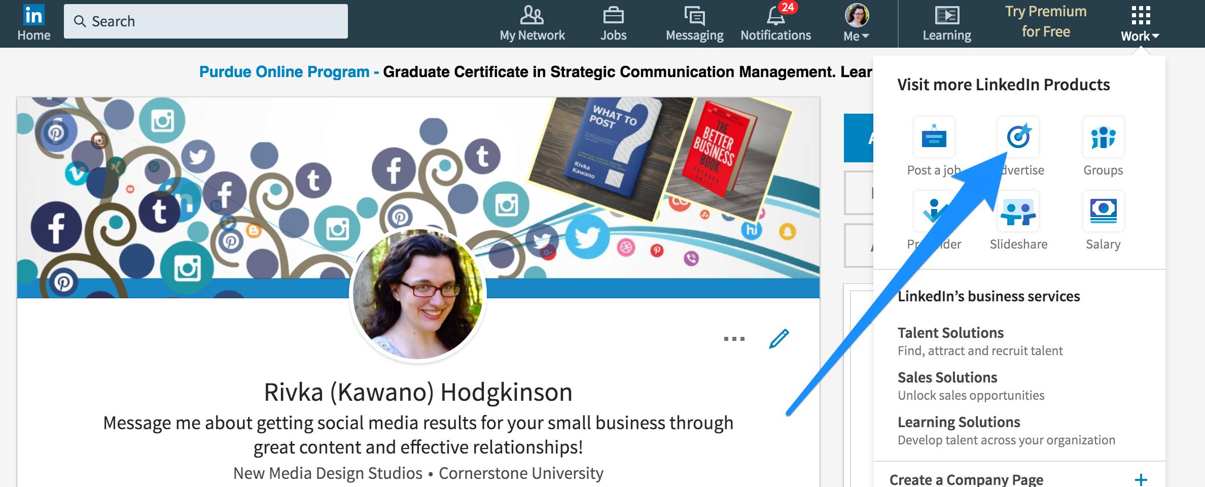 How to use LinkedIn Lead Ads -- screenshot 1