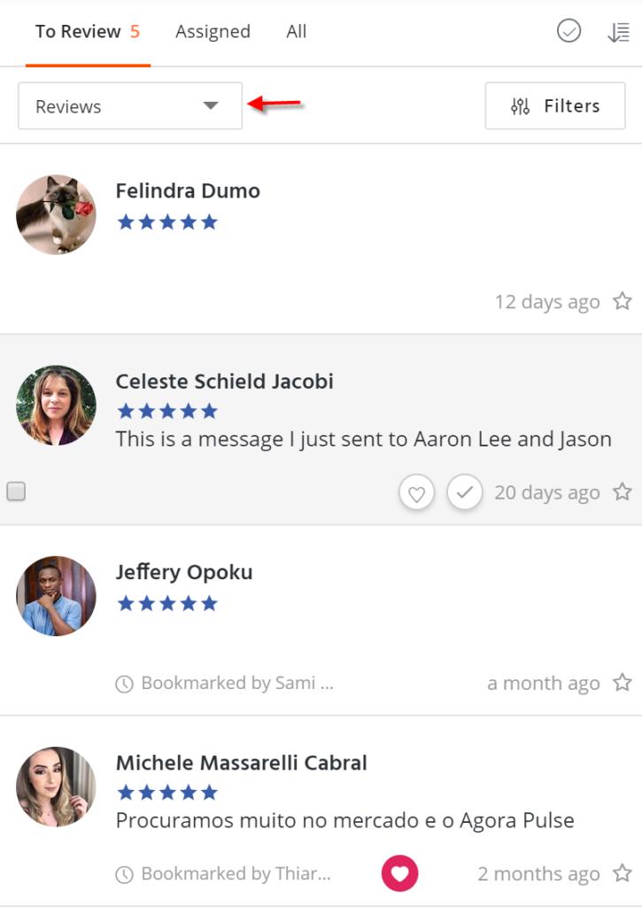 facebook reviews management