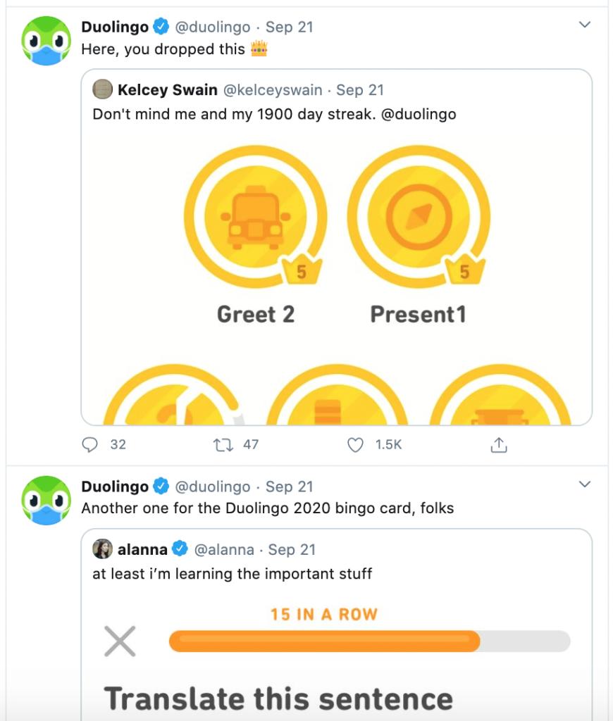 winning duolingo post