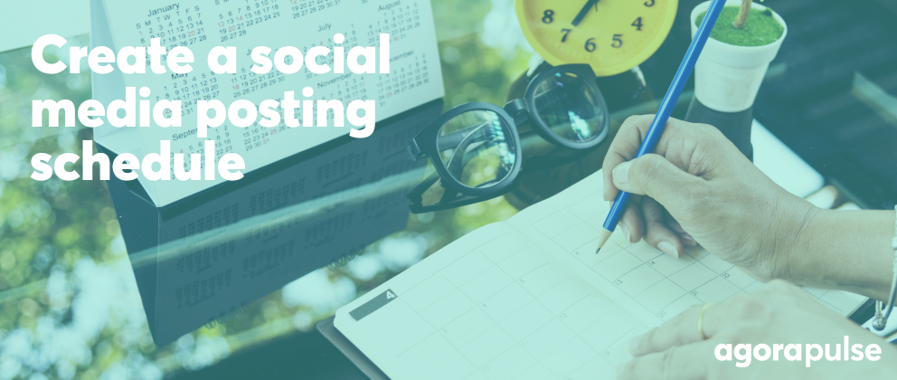 header image for how to create a social media posting schedule