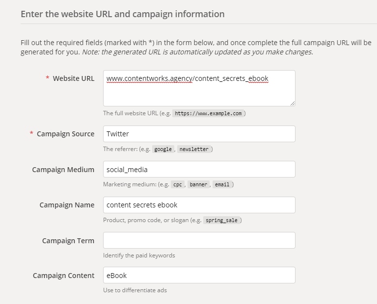 prove social ROI-- UTM tracking