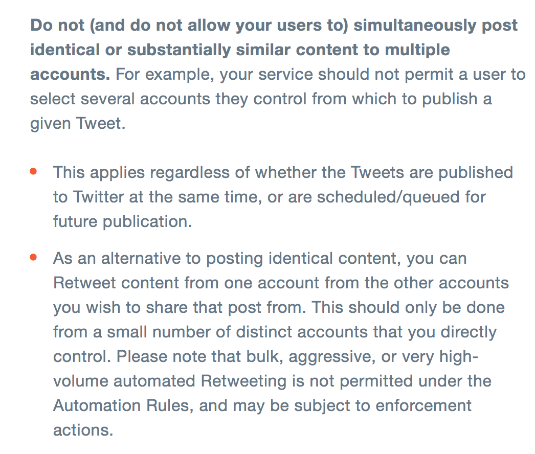 new social media rules-- Twitter's rules