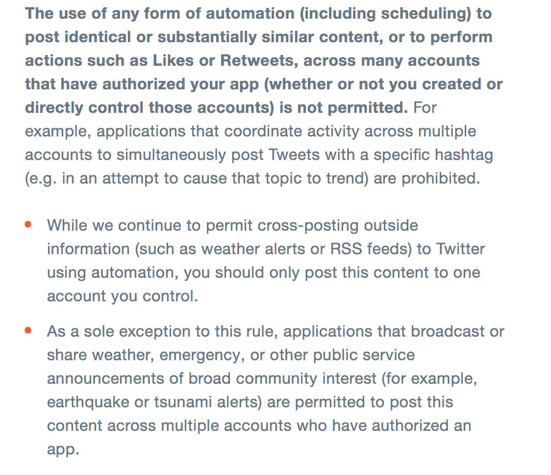 new social media rules -- Twitter's new rules