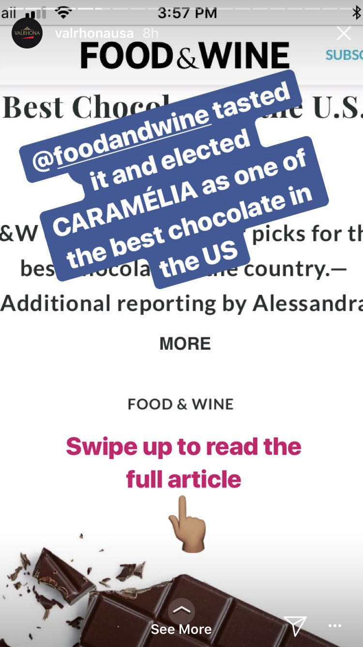 "Instagram Stories best practices-- using ""swipe up"""