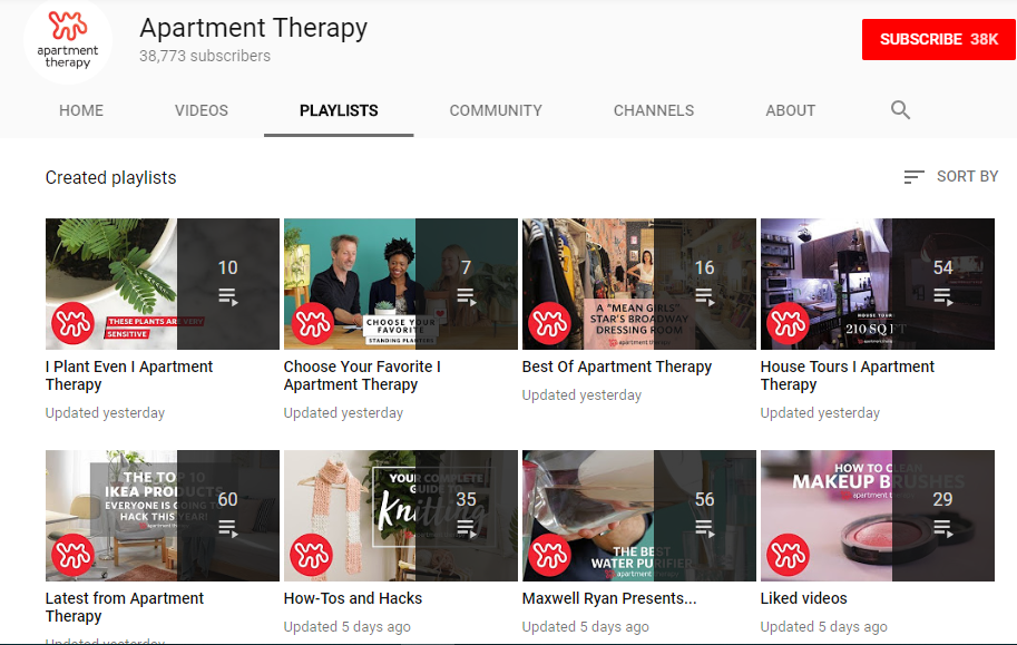 YouTube Community Building-- targeted playlists