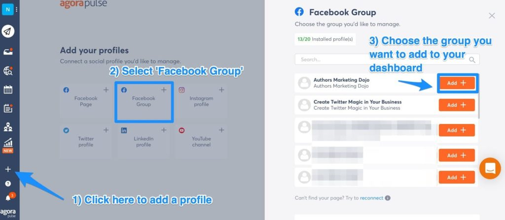 post to facebook groups with agorapulse a social media management platform