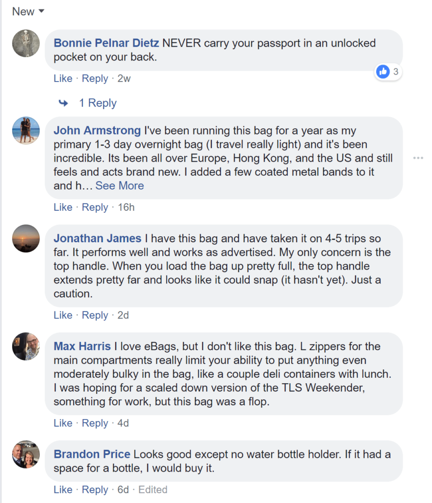 multiple ad account comments-- Facebook ad comments