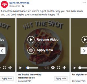social media ROI- example of using paid ads