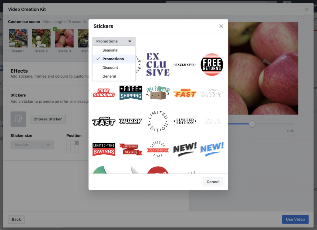 Facebook Creation Kit Stickers