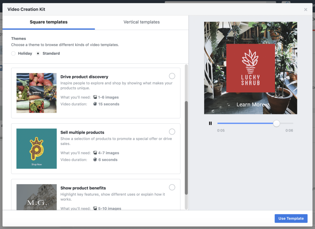 Facebook Creation Kit Templates