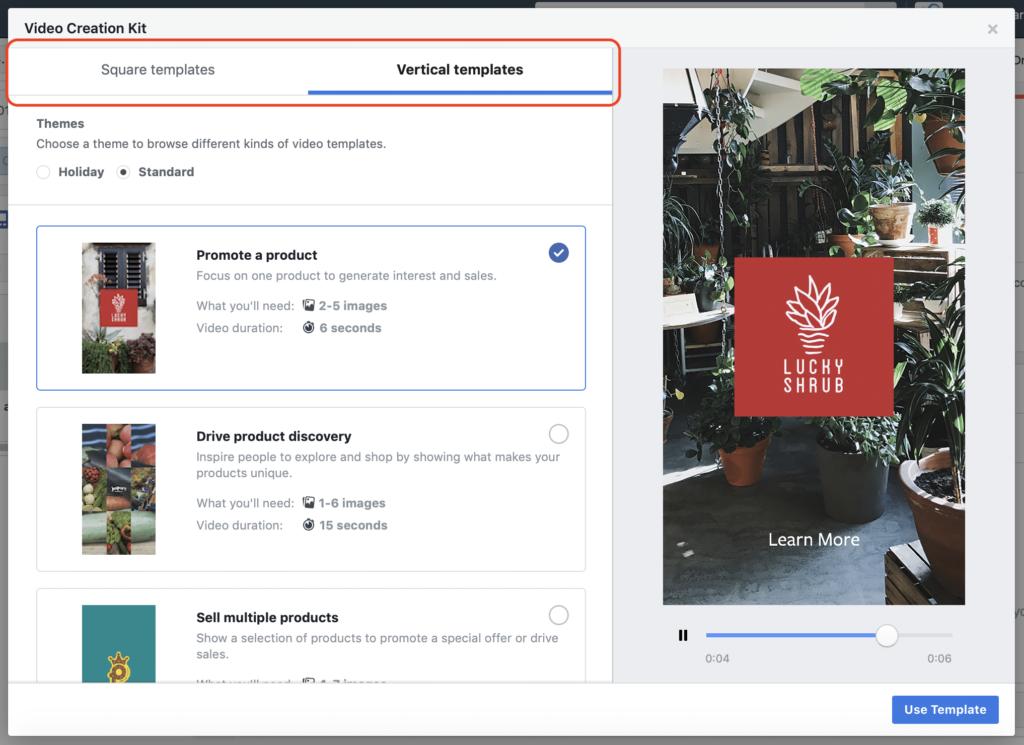 Facebook Creation Kit Video Format