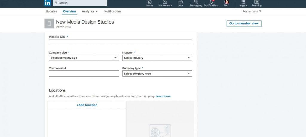 Step 5 -- Add company details