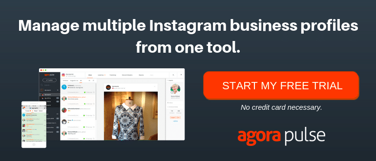 manage Instagram business profiles