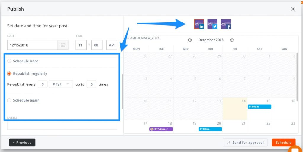 Schedule LinkedIn Posts -- screenshot step 3
