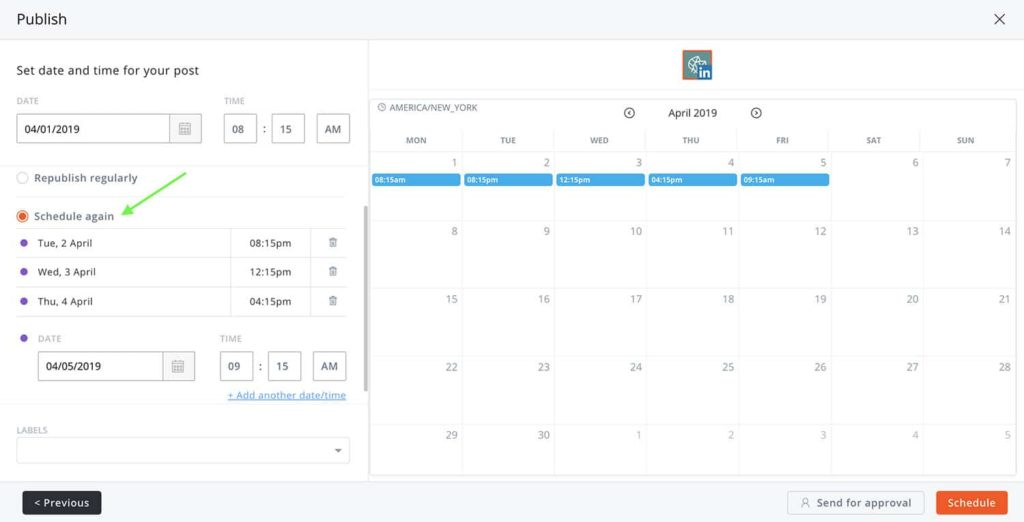 How to reschedule a post to LinkedIn on Agorapulse