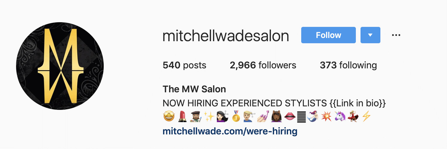 Instagram profile link