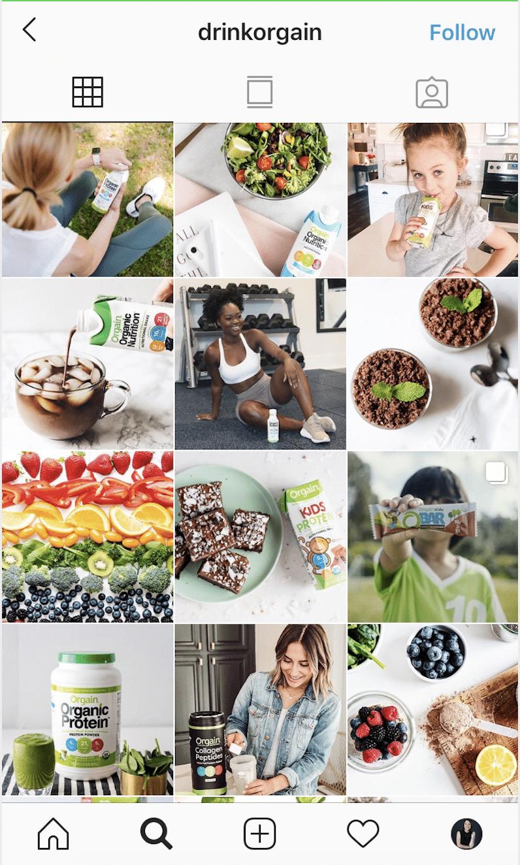 branded look on instagram grid view