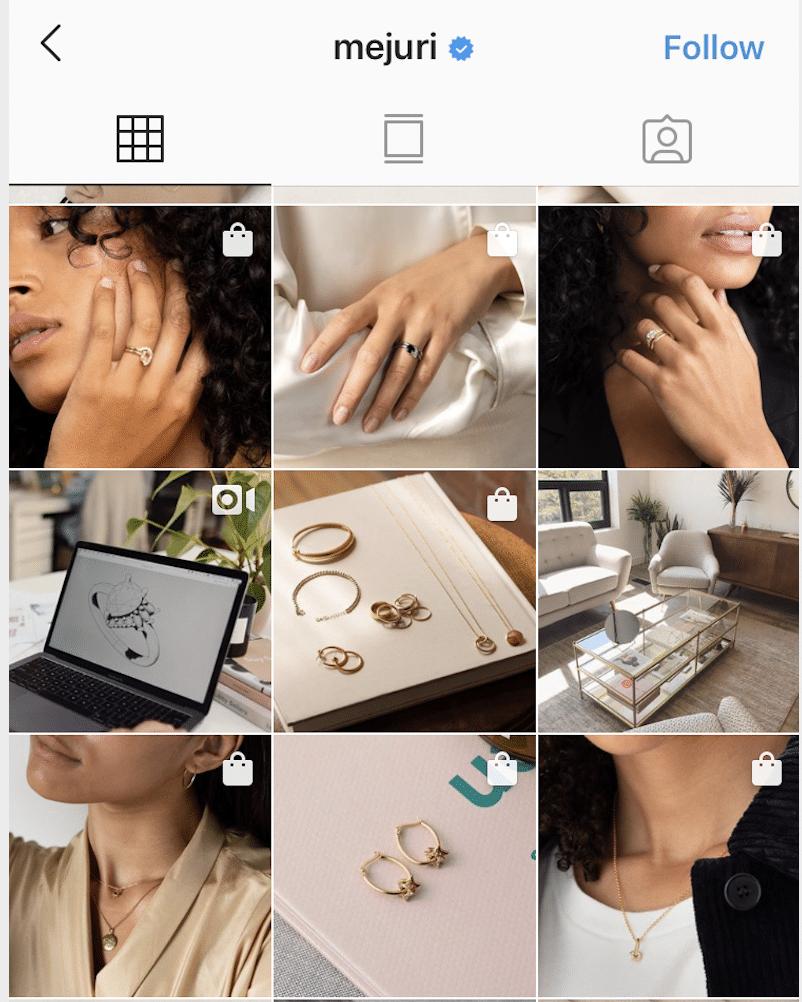 Instagram grid view